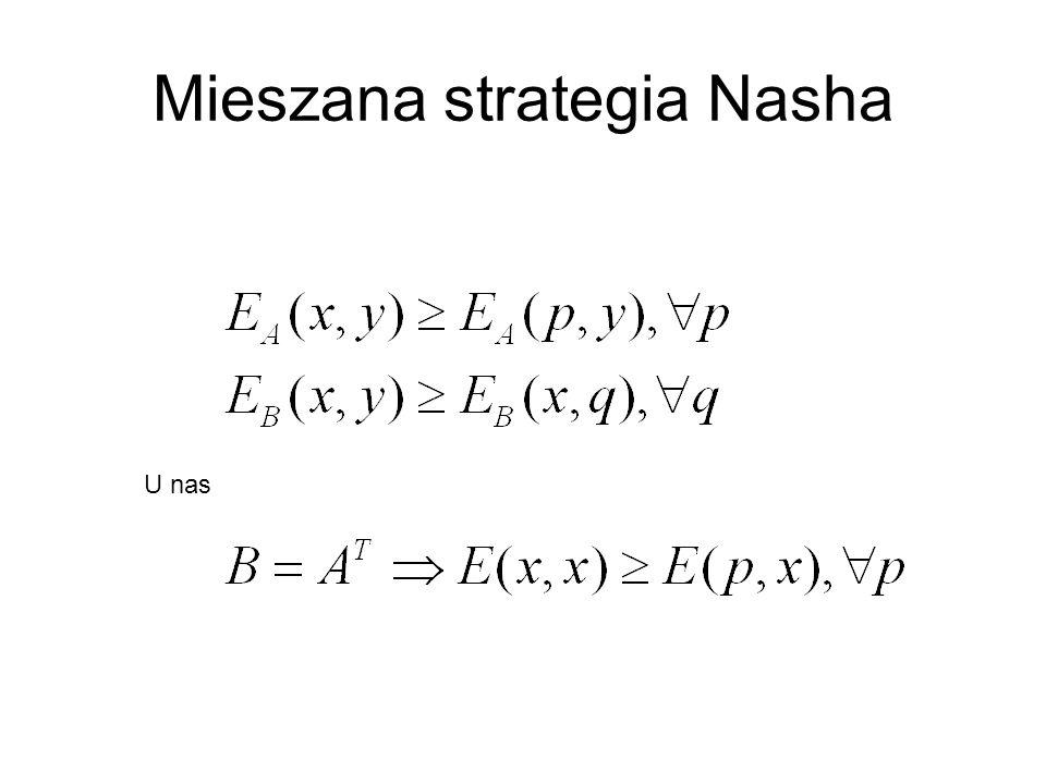 Mieszana strategia Nasha U nas