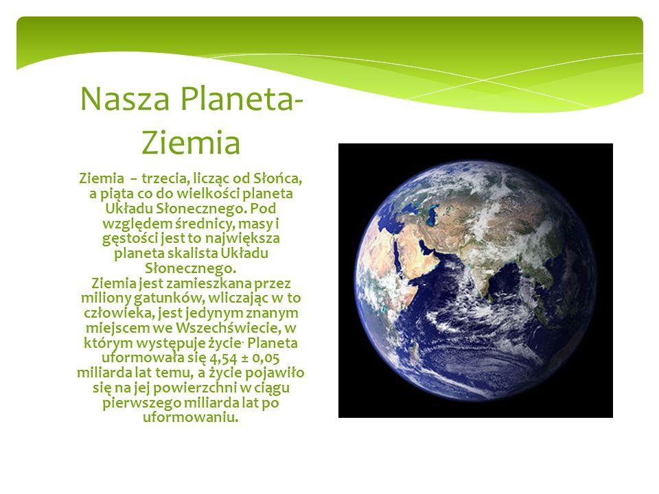 My i Nasza Planeta Opracowali: Piotr Romaniak Paweł Sandulski
