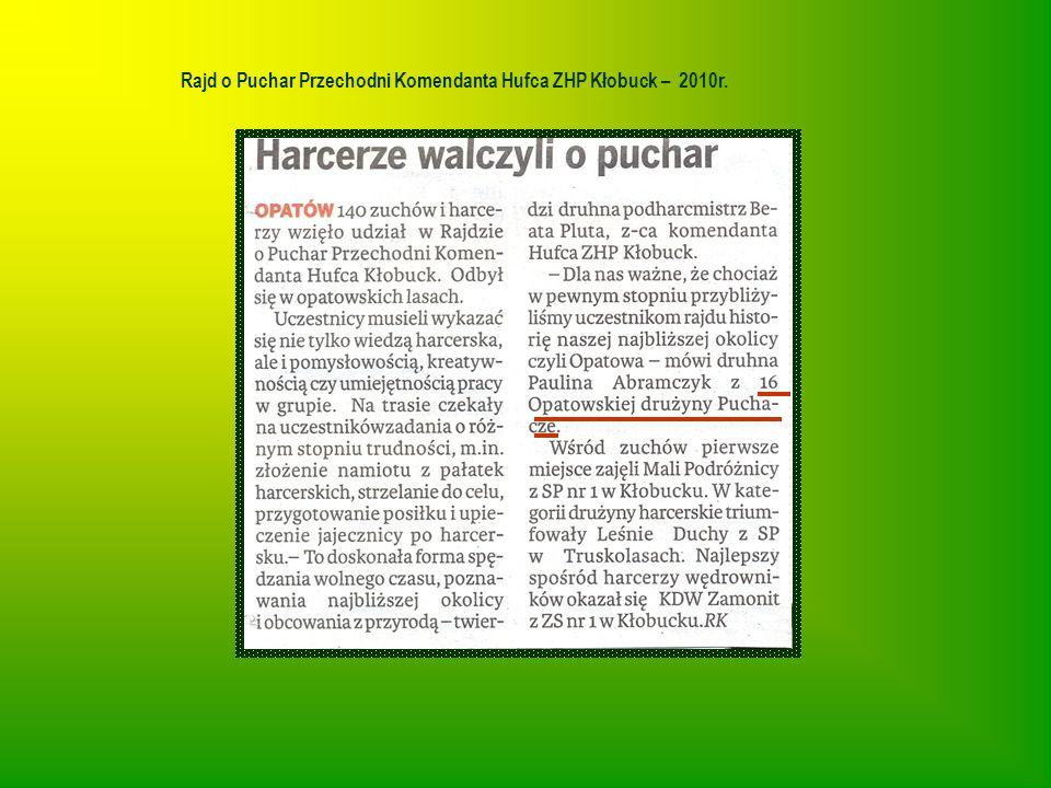 Rajd o Puchar Przechodni Komendanta Hufca ZHP Kłobuck – 2010r.