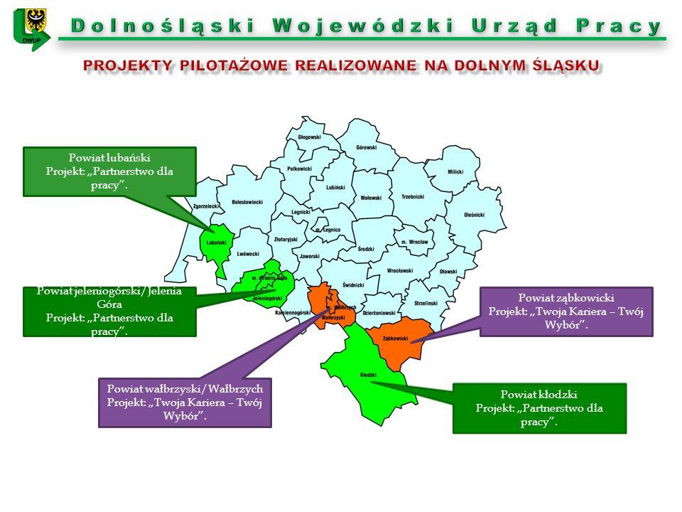 """Powiat jeleniogórski/Jelenia Góra Projekt: """"Partnerstwo dla pracy"""". Powiat kłodzki Projekt: """"Partnerstwo dla pracy"""". Powiat ząbkowicki Projekt: """"Twoja"""