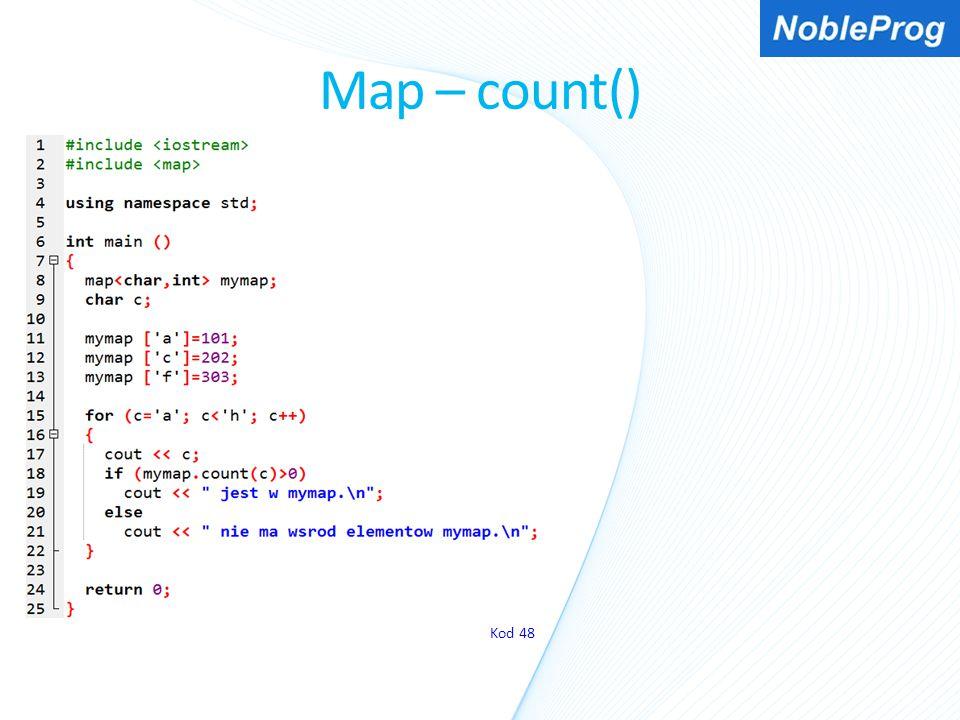 Map – count() Kod 48