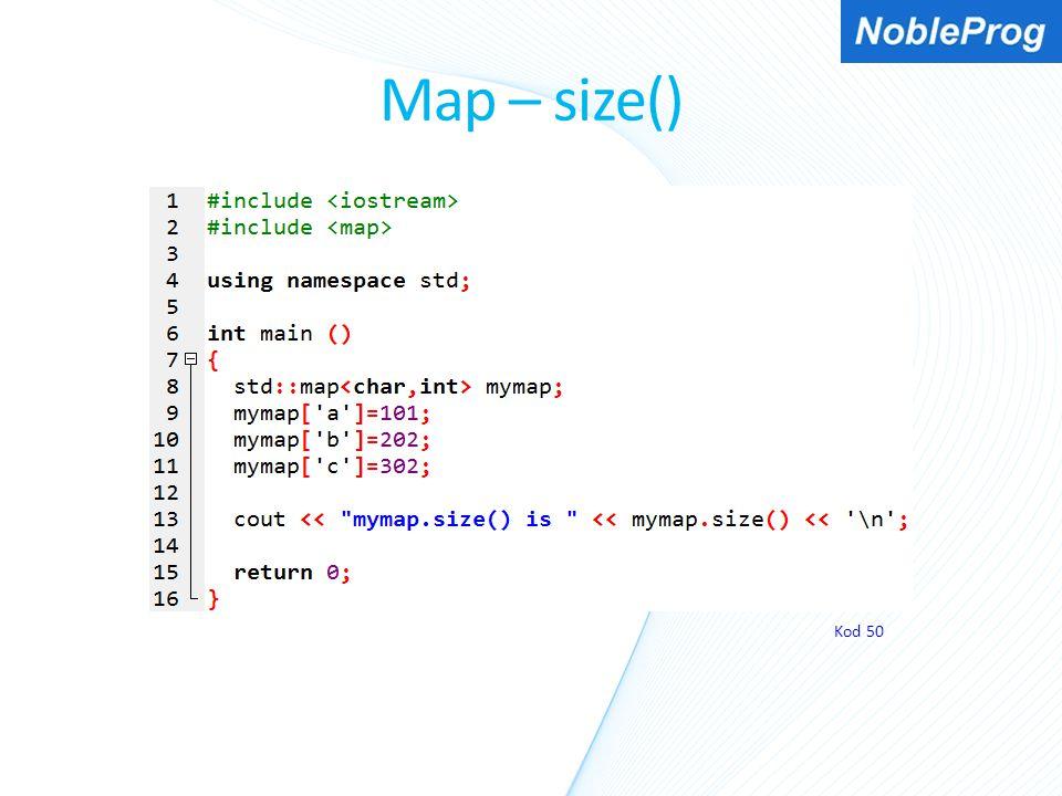 Map – size() Kod 50