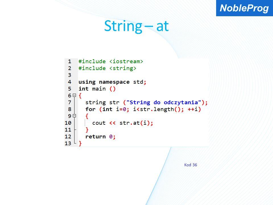 String – at Kod 36