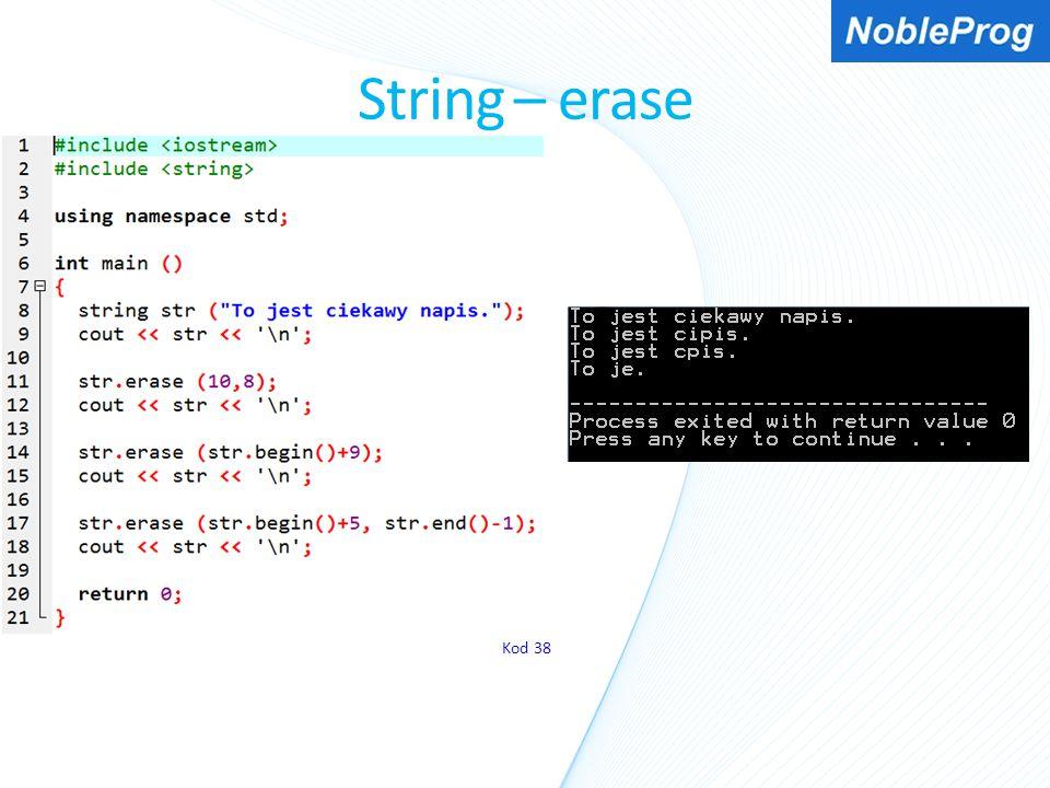 String – erase Kod 38