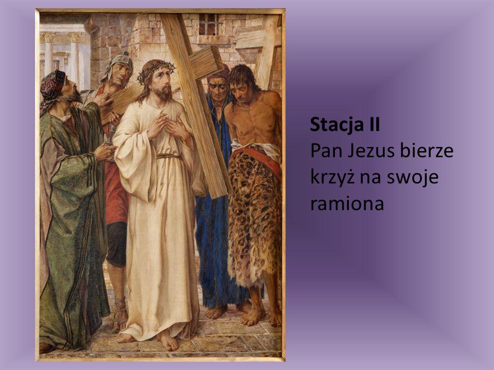 Stacja XIII Pan Jezus z krzyża zdjęty