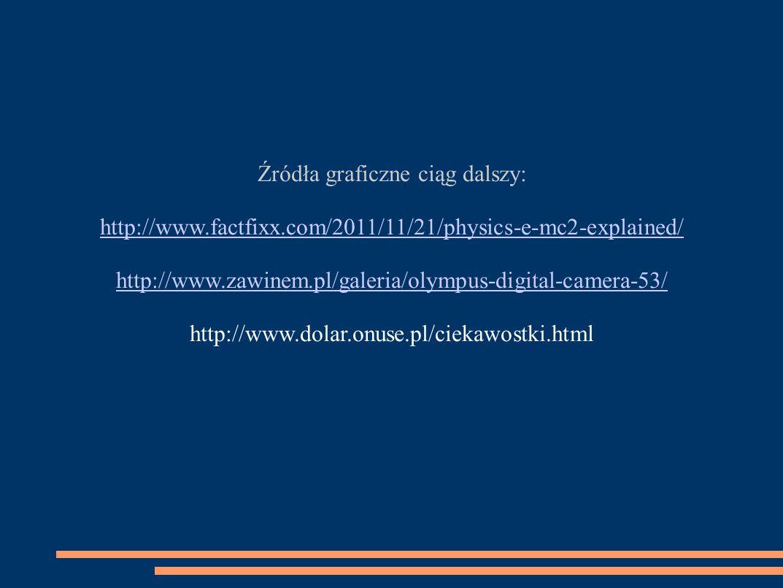 Źródła graficzne ciąg dalszy: http://www.factfixx.com/2011/11/21/physics-e-mc2-explained/ http://www.zawinem.pl/galeria/olympus-digital-camera-53/ htt