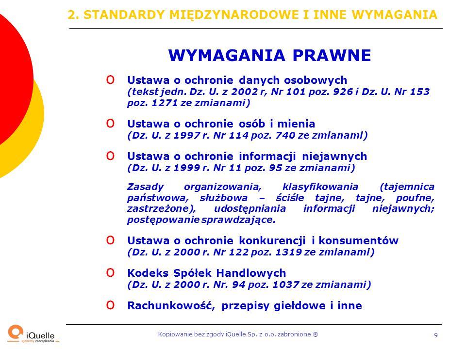 Kopiowanie bez zgody iQuelle Sp.z o.o. zabronione Ⓡ 60 4.2.2 WDRÓŻ I STOSUJ SZBI – c.d.