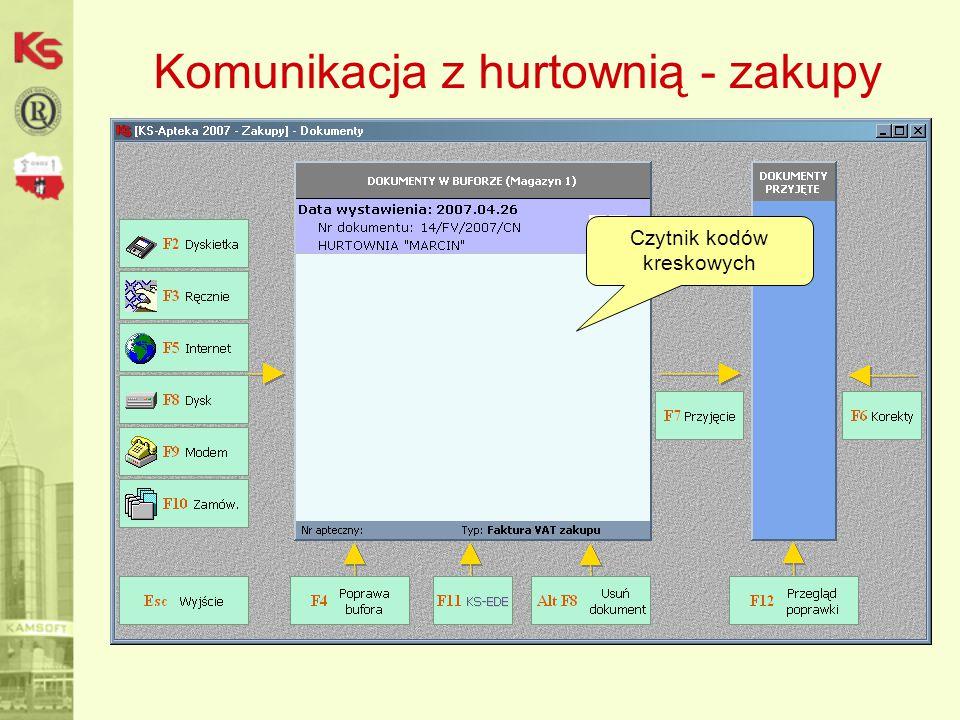 Komunikacja z hurtownią - zakupy Czytnik kodów kreskowych