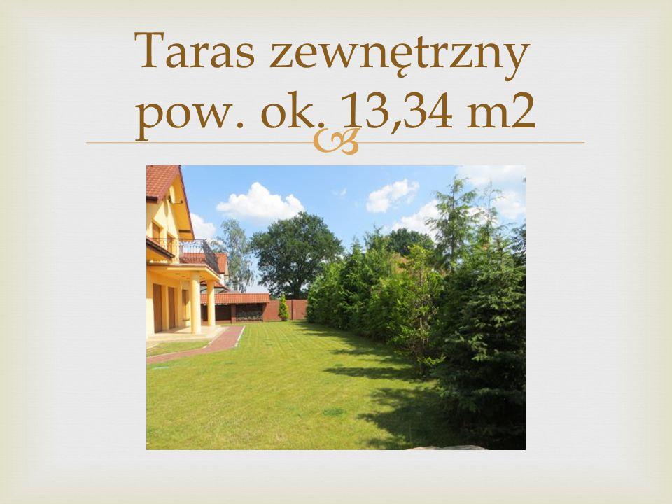  Taras zewnętrzny pow. ok. 13,34 m2