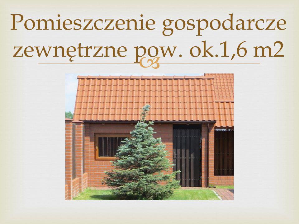  Pomieszczenie gospodarcze zewnętrzne pow. ok.1,6 m2