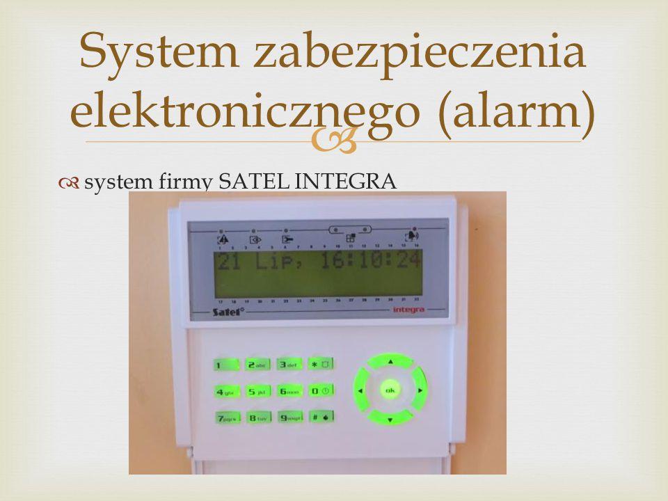   system firmy SATEL INTEGRA System zabezpieczenia elektronicznego (alarm)