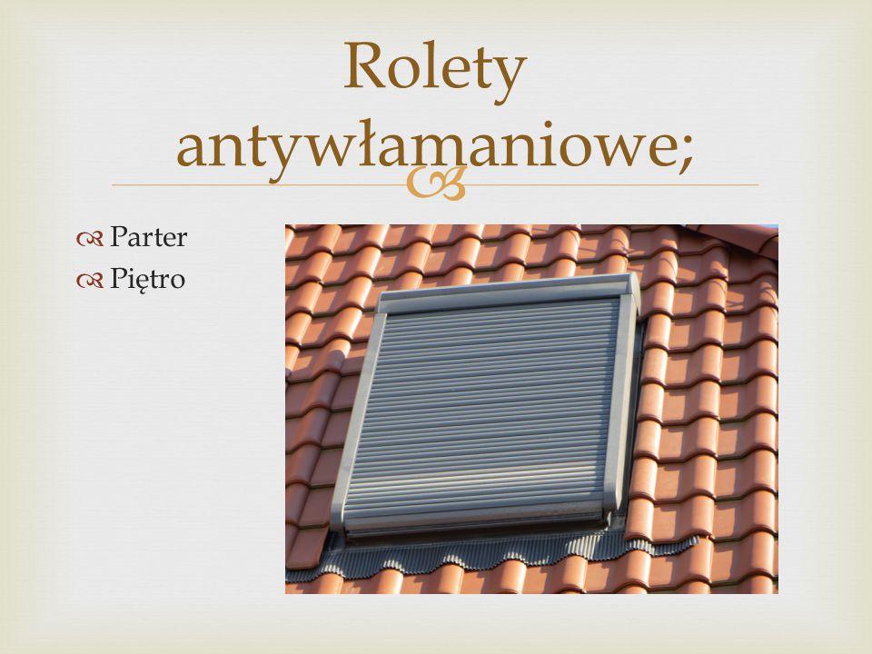   Parter  Piętro Rolety antywłamaniowe;