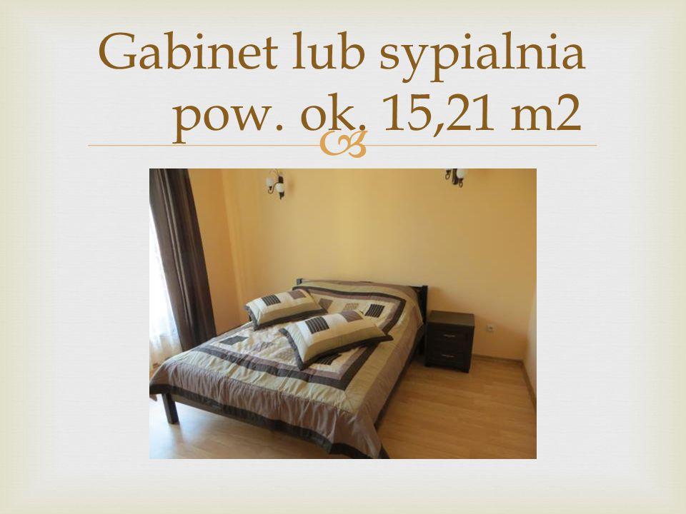  Gabinet lub sypialnia pow. ok. 15,21 m2