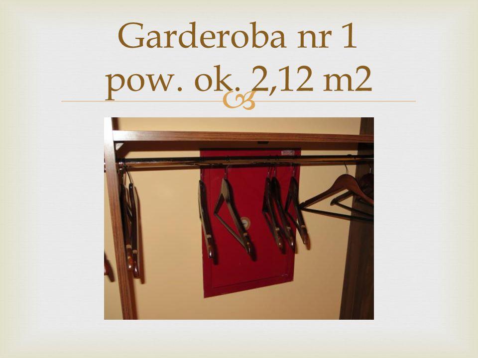  Garderoba nr 1 pow. ok. 2,12 m2
