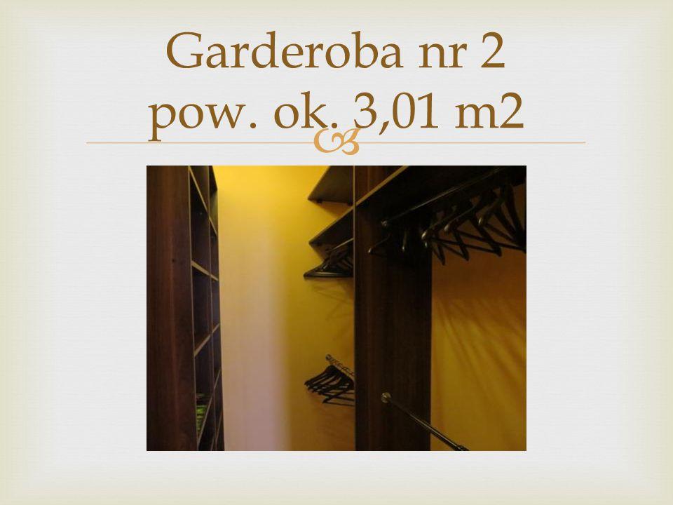  Garderoba nr 2 pow. ok. 3,01 m2
