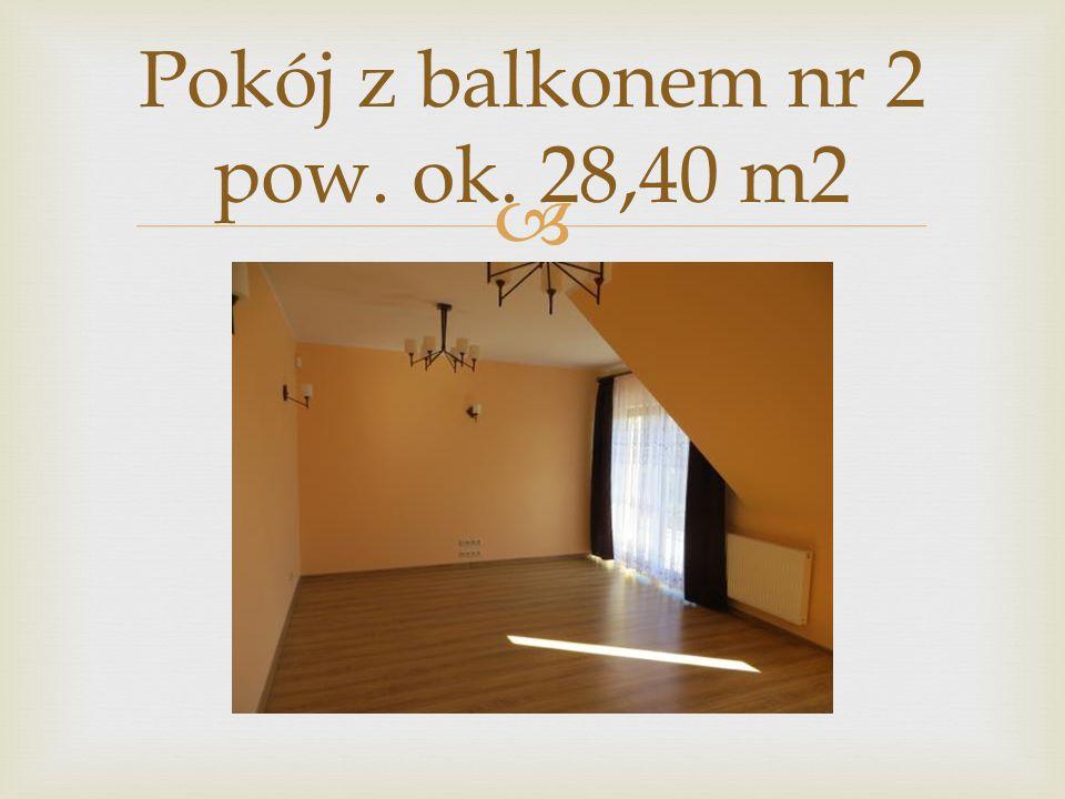  Pokój z balkonem nr 2 pow. ok. 28,40 m2