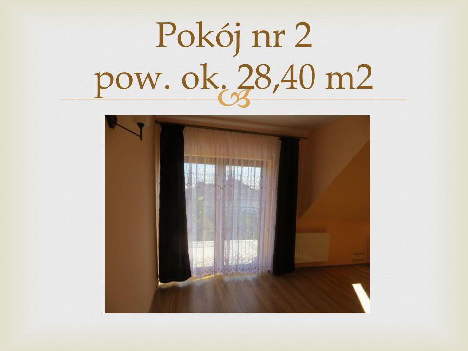  Pokój nr 2 pow. ok. 28,40 m2