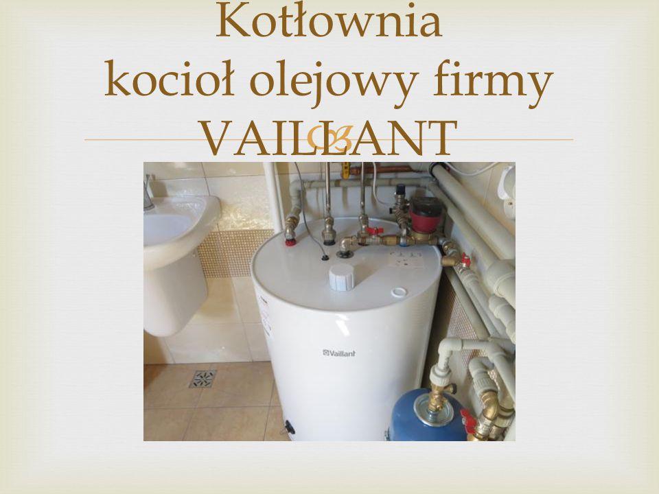  Kotłownia kocioł olejowy firmy VAILLANT