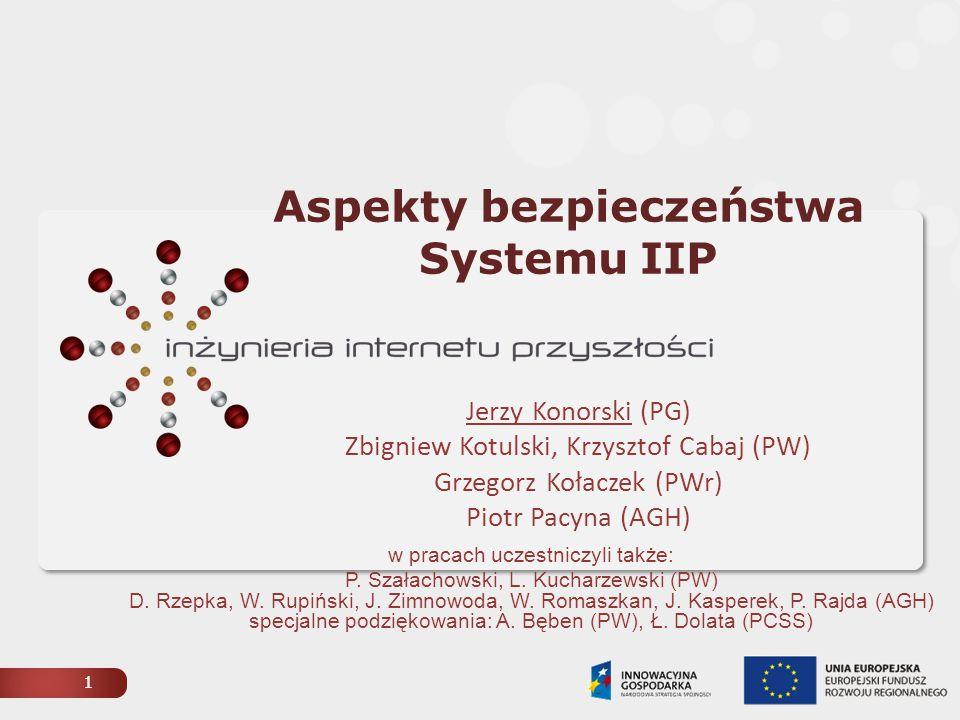 2 Architektura i zagrożenia Systemu IIP IPv6 QoSDSSCAN Zagrożenia w Systemie IIP na poziomie wirtualizacji stwarzane przez intruzów / przypadkowe spoza Systemu IIP / z przejętych węzłów IIP ogólnoinformatyczne / związane z ruchem IIP PI – Parallel Internet