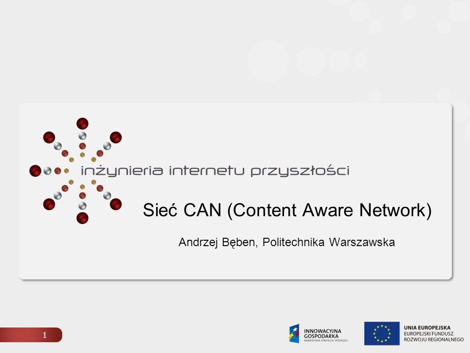 Sieć CAN (Content Aware Network) Andrzej Bęben, Politechnika Warszawska 1