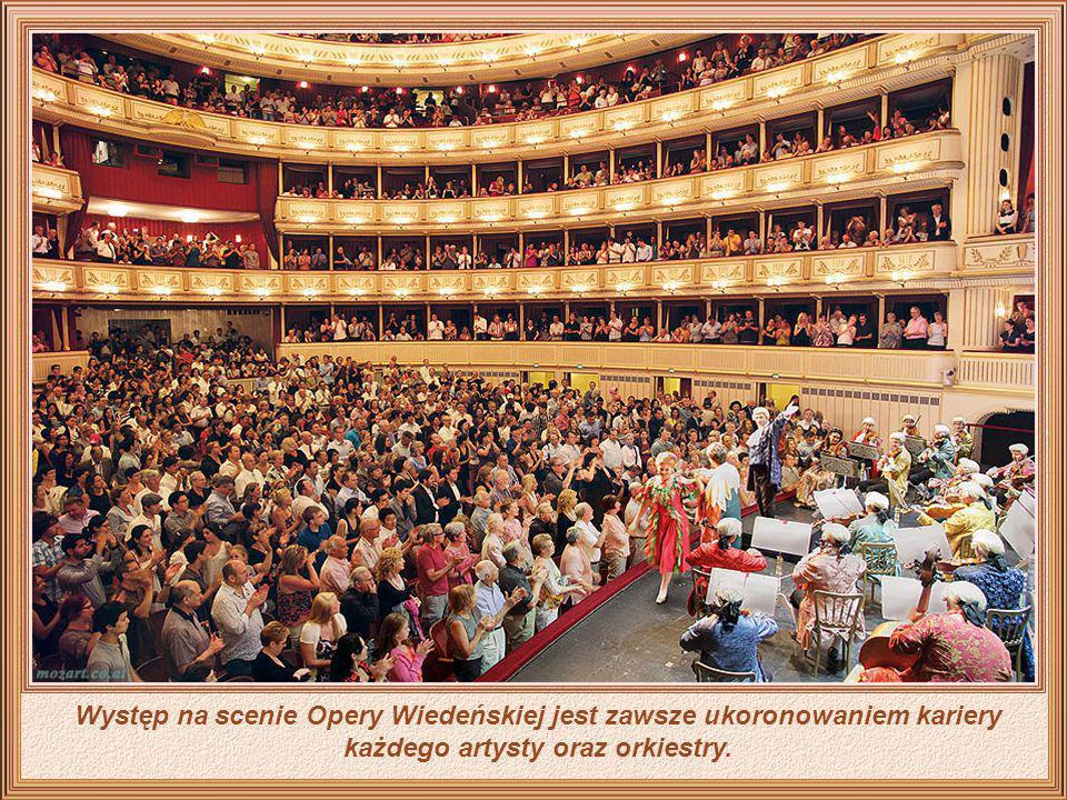 Oryginalne wnętrze Opery Wiedeńskiej