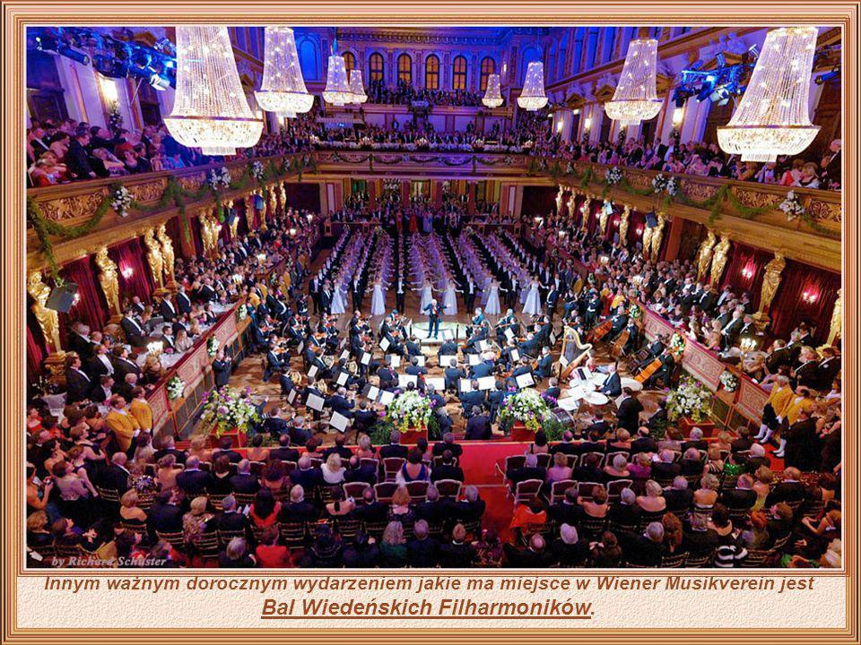 Wiener Musikverein, to sala koncertowa i siedziba Filharmonii Wiedeńskiej.