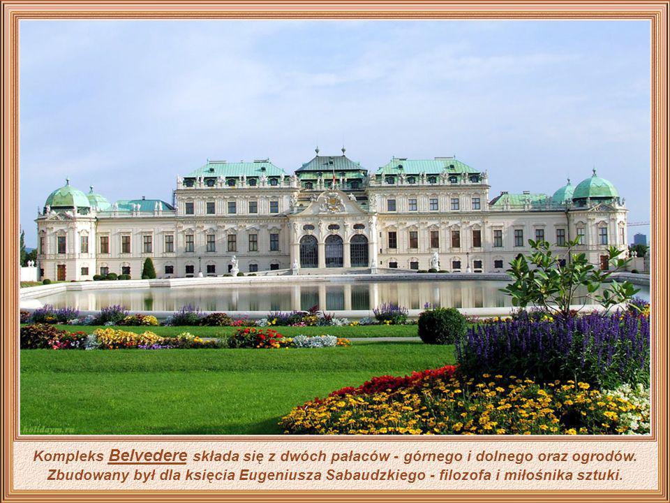 Gloriette pałacu barokowego (Schönbrunn), który był letnią rezydencją austriackiej rodziny cesarskiej od połowy XVIII wieku aż do końca II wojny świat