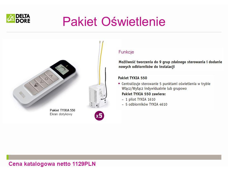 Pakiet Oświetlenie + sterowanie przez Internet Cena katalogowa netto 2341PLN Pakiet TYXIA 550 Ekran dotykowy TYDOM 2000 Interfejs dla tabletów i smartfonów Steruj oświetleniem zdalnie i lokalnie za pomocą smartfona lub tableta.