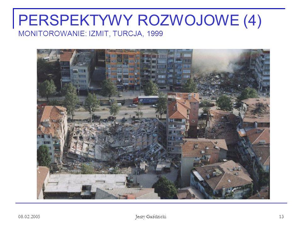 08.02.2005 Jerzy Gaździcki 13 PERSPEKTYWY ROZWOJOWE (4) MONITOROWANIE: IZMIT, TURCJA, 1999
