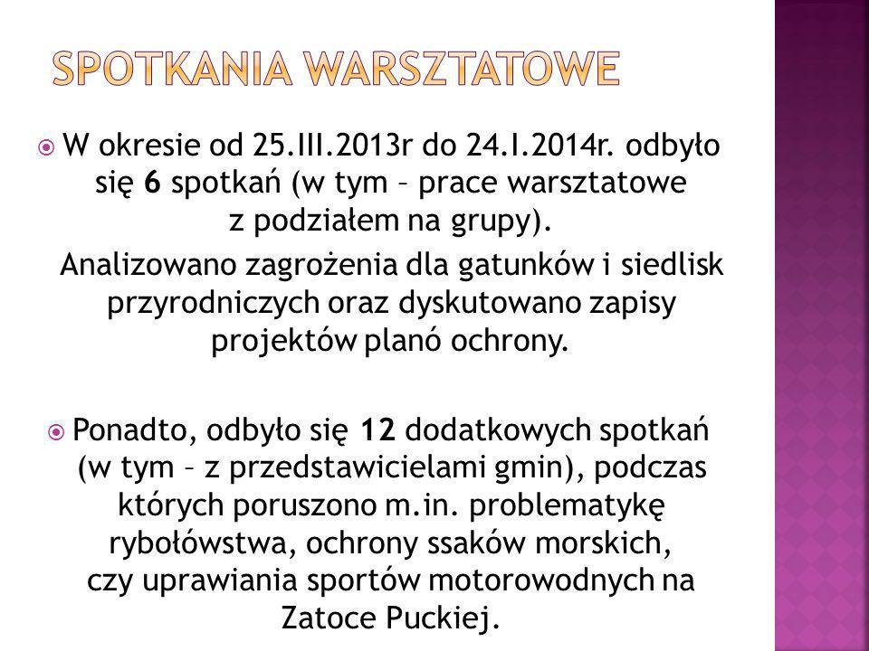  Projekty planów ochrony i program zarządzania zostały przekazane do recenzji i są analizowane przez Urząd Morski w Gdyni.