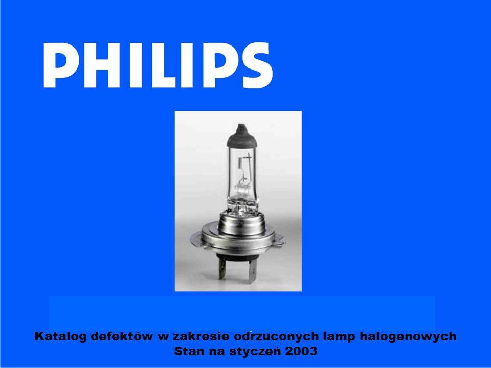 PHILIPS Prezentacja lamp oraz terminologia; Trwałość lamp: definicja + przykłady Definicja zakresu defektów Lampy przy końcu użytkowania: przykłady Koniec użytkowania – nadnapięcie Typowe przyczyny usterek - nieszczelne lamy - złamane żarniki - dotykanie palcami Spis treści: BCA Aachen, Herbert Boost / Moto – Profil Sp.