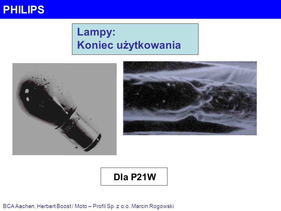 PHILIPS BCA Aachen, Herbert Boost / Moto – Profil Sp. z o.o. Marcin Rogowski Lampy: Koniec użytkowania Dla P21W
