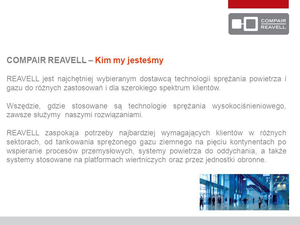 COMPAIR REAVELL – Kim my jesteśmy REAVELL jest najchętniej wybieranym dostawcą technologii sprężania powietrza i gazu do różnych zastosowań i dla szer