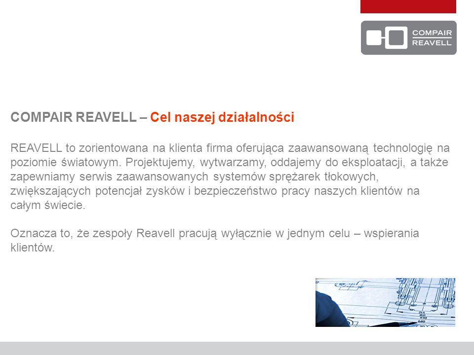 COMPAIR REAVELL – Cel naszej działalności REAVELL to zorientowana na klienta firma oferująca zaawansowaną technologię na poziomie światowym.