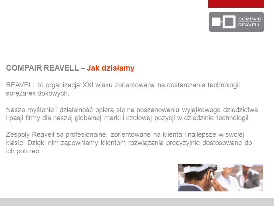 COMPAIR REAVELL – Jak działamy REAVELL to organizacja XXI wieku zorientowana na dostarczanie technologii sprężarek tłokowych. Nasze myślenie i działal