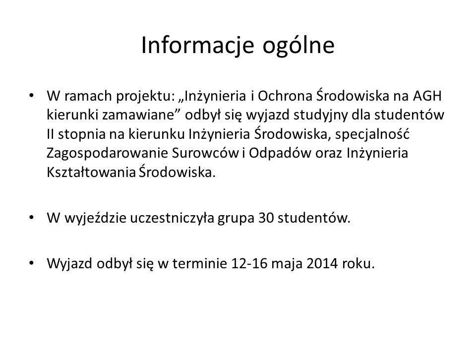 PODCZAS WYJAZDU ZWIEDZONO NASTĘPUJĄCE FIRMY: SGL Carbon Polska SA, ul.