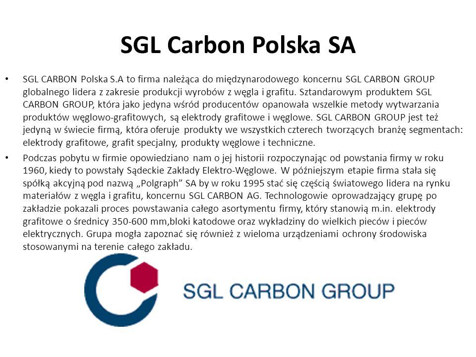 SGL Carbon Polska SA SGL CARBON Polska S.A to firma należąca do międzynarodowego koncernu SGL CARBON GROUP globalnego lidera z zakresie produkcji wyro