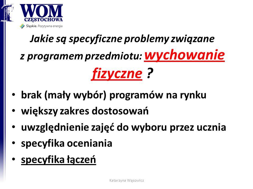 Jakie są specyficzne problemy związane z programem przedmiotu: wychowanie fizyczne .