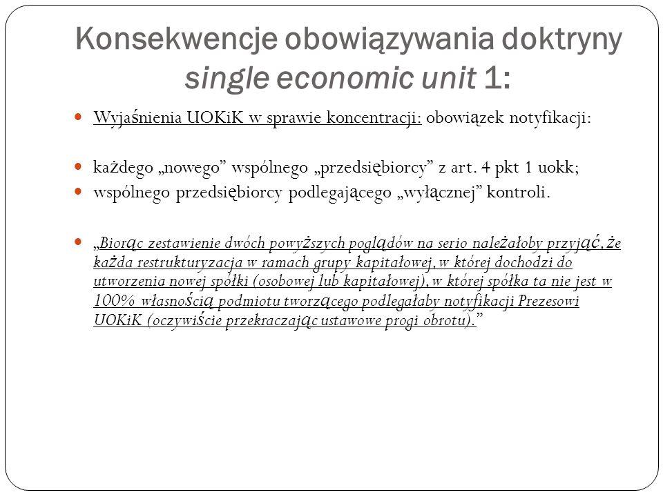 """Konsekwencje obowiązywania doktryny single economic unit 2: """"polskie zmowy przetargowe"""