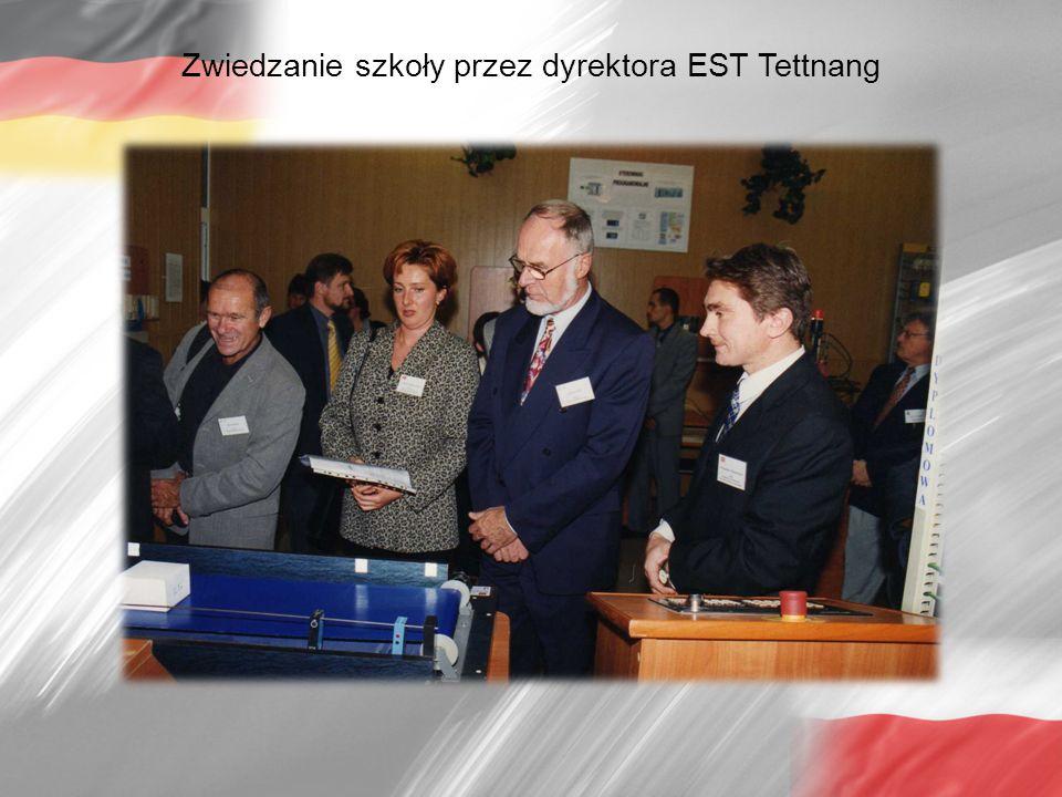 Zwiedzanie szkoły przez dyrektora EST Tettnang