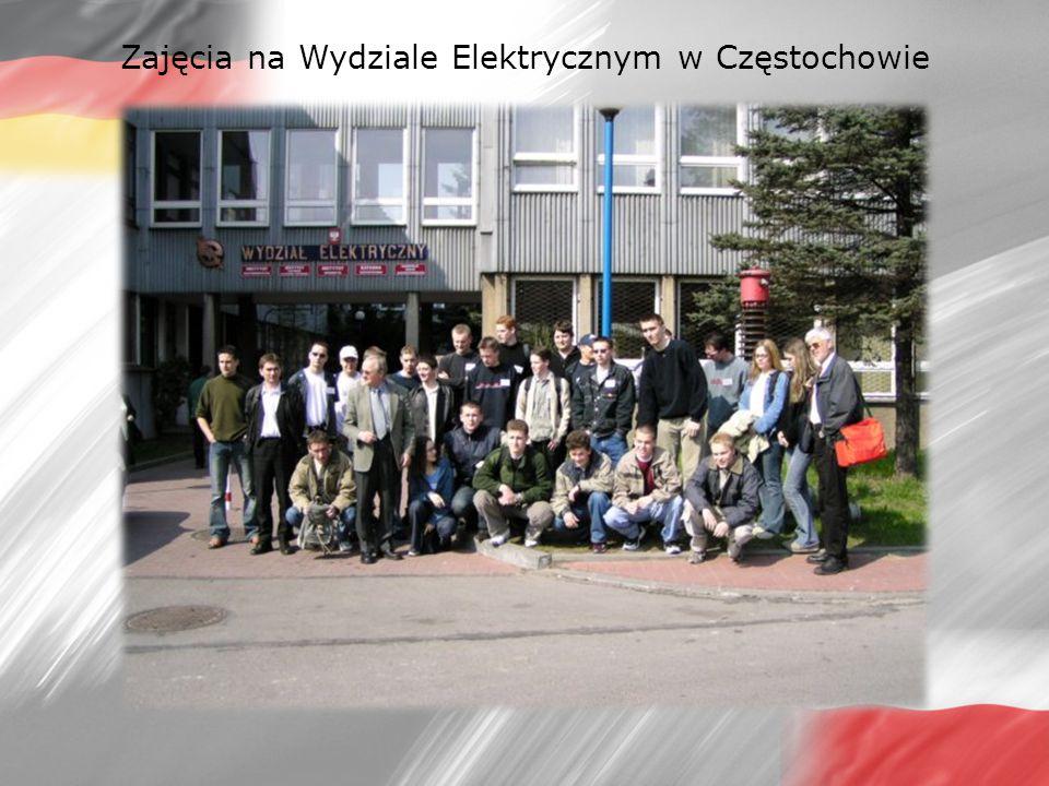 Zajęcia na Wydziale Elektrycznym w Częstochowie