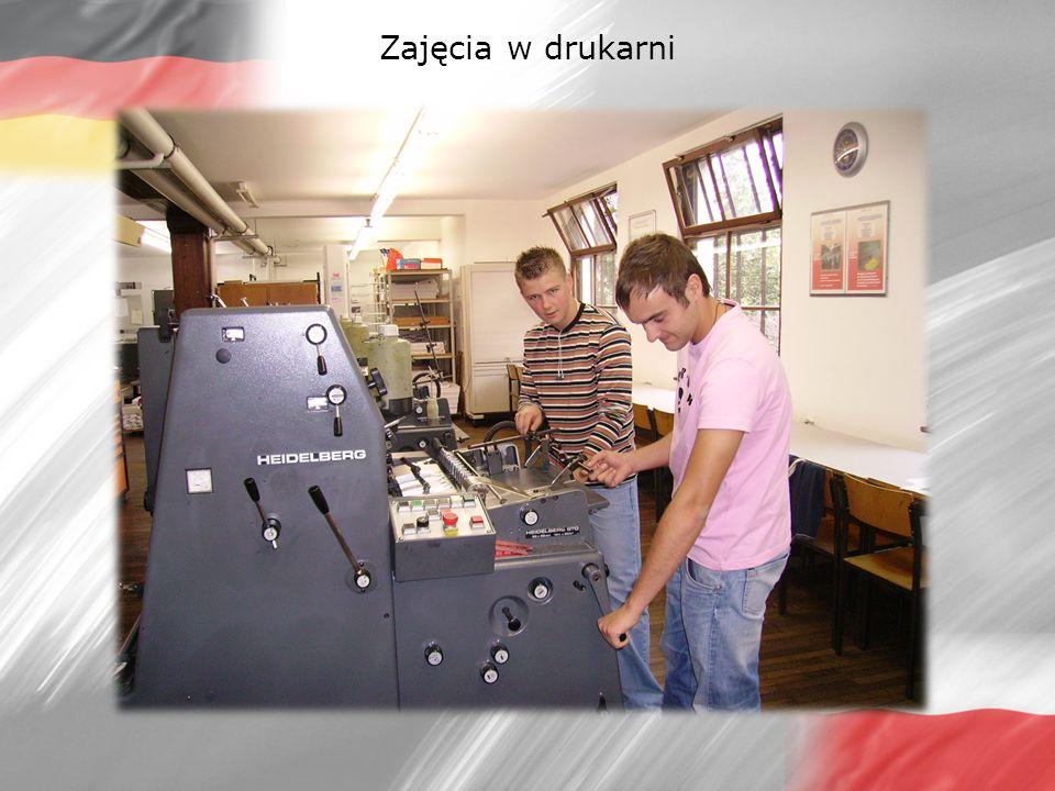 Zajęcia w drukarni