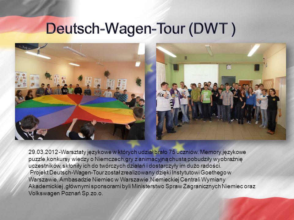 29.03.2012 -Warsztaty językowe w których udział brało 75 uczniów.