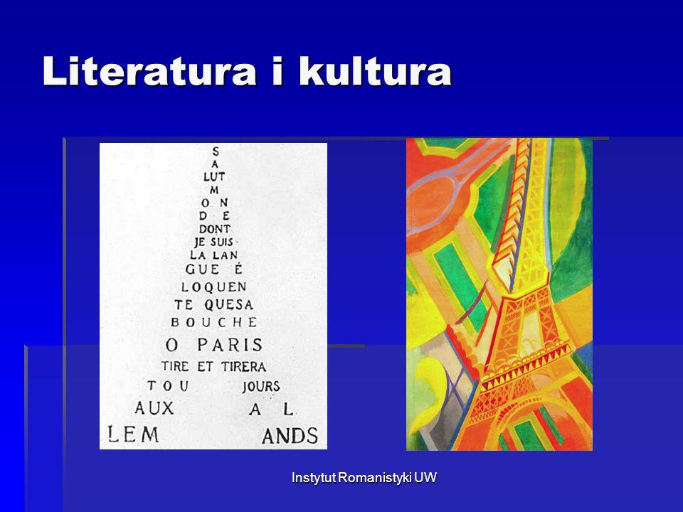 Literatura i kultura Instytut Romanistyki UW