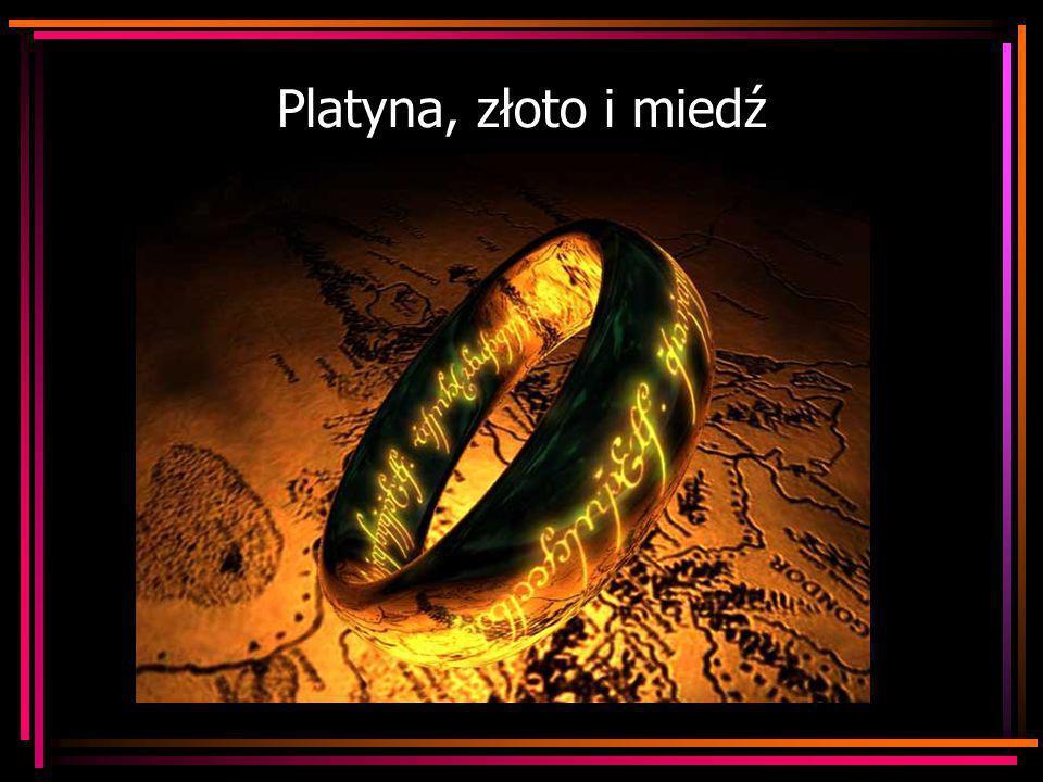 Platyna, złoto i miedź