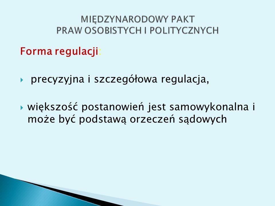 System implementacji  system raportów  fakultatywna procedura skarg indywidualnych  fakultatywna procedura skarg państw (art.