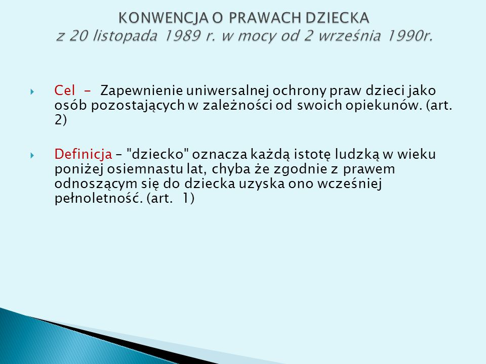  Zobowiązania Państw-Stron: konwencja obejmująca wszystkie prawa (klasyczne i socjalne), a także specjalne regulacje dot.