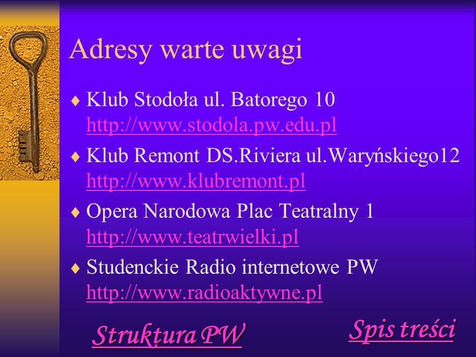 Adresy warte uwagi  Klub Stodoła ul.