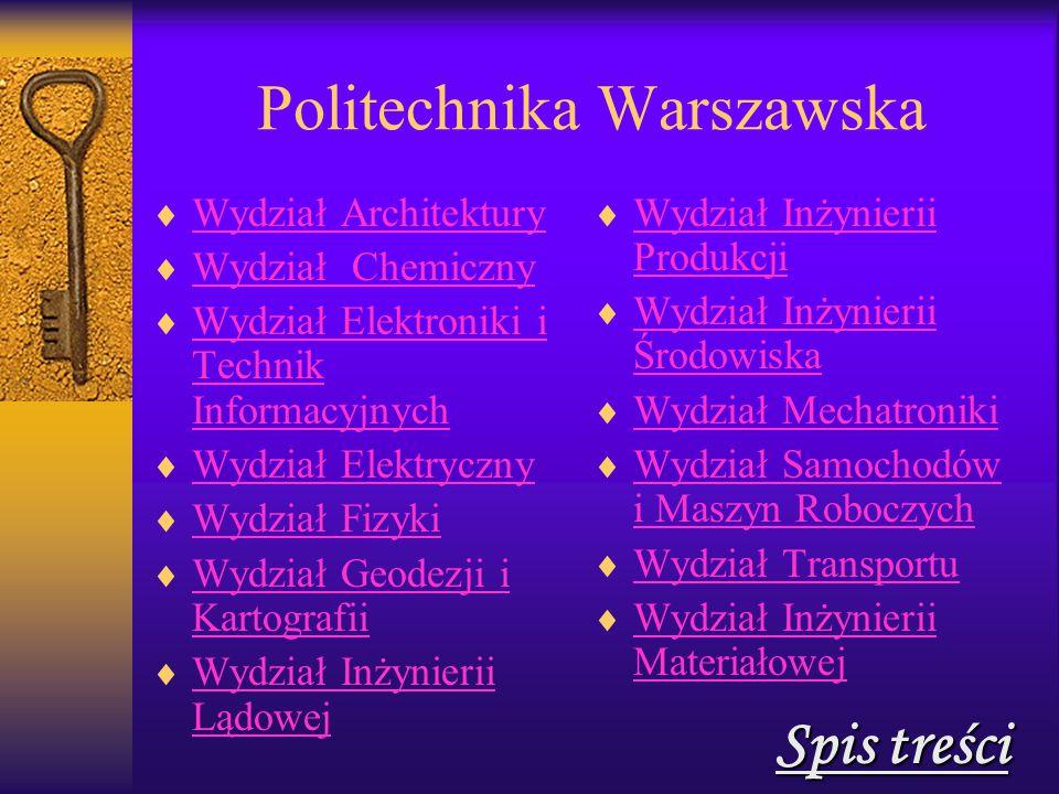 Wydział Samochodów i Maszyn Roboczych  02-247 Warszawa ul.