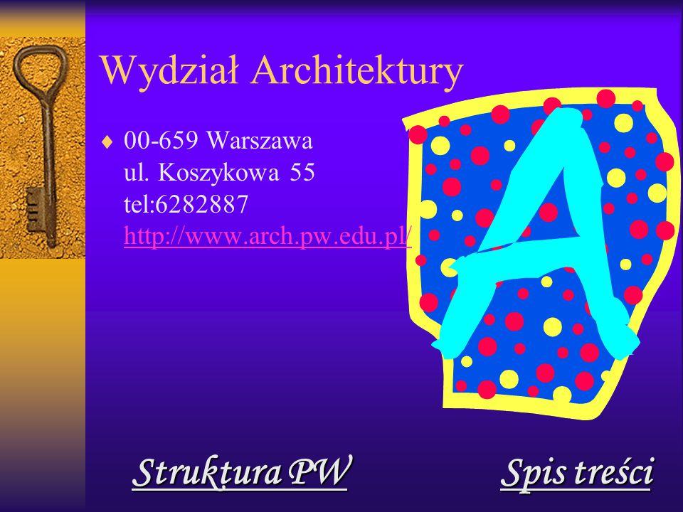 Wydział Architektury  00-659 Warszawa ul.